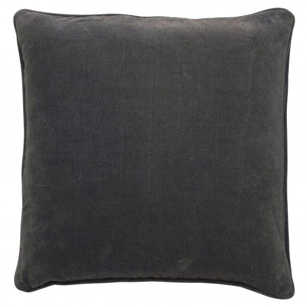 Velourpude mørkegrå 50x50