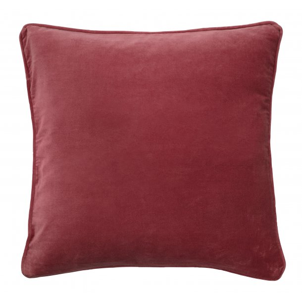 Velourpude mørk rosa 50x50
